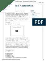 Probabilidad Y estadistica _ Distribución de Bernoulli y Distribución Binomial