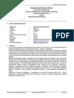 IN0506 Investigación  Operativa Plan 2015 II -VB