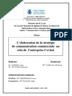 L'élaboration de la stratégie de communication commerciale au sein de l'entreprise Cevital.pdf