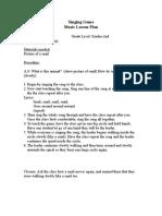 snail snail singing game pdf