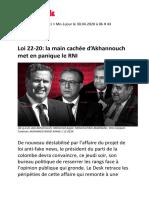 Loi 22-20- la main cachée d'Akhannouch met en panique le RNI
