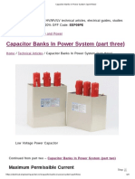 Capacitor Banks In Power System (three)
