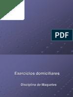 PPT Exercícios Domiciiares e Introdução Maquete Red And Blue