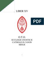 Aleister Crowley - Liber 15 - Liber XV - Ecclesiæ Gnosticæ Catholicæ Canon Missæ