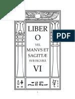 Aleister Crowley - Liber 6 - Liber VI - Liber O vel Manvs Et Sagittæ