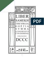 Aleister Crowley - Liber 800 - Liber DCCC - Liber Samekh Thevrgia Goëtia Svmma