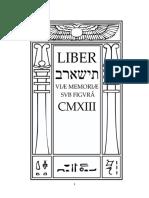 Aleister Crowley - Liber 913 - Liber CMXIII - Liber ThIShARB Viæ Memoriæ