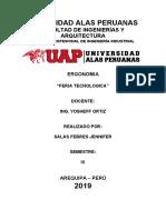 Copia de FERIA TECNOLÓGICA DE LA UNIVERSIDAD ALAS PERUANAS (ERGONOMIA)