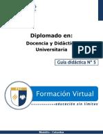 Guia Didactica 5-Docencia Universitaria