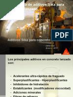 Tecnologia de aditivos para concreto lanzado