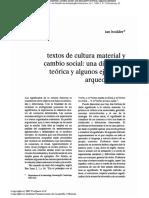 Hodder - Textos de Cultura material y cambio social