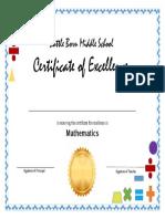 maribel h certificate