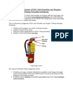 Tata Cara Penggunaan APAR Alat Pemadam A