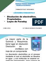 2da SEM  Disolución de electrolitos. Leyes de Faraday