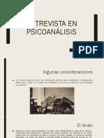 la entrevista en psicoanalisis