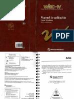 WISC manual de aplicación
