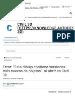 Error_ _Este dibujo contiene versiones más nuevas de objetos_. al abrir en Civil 3D _ Civil 3D 2019 _ Autodesk Knowledge Network.pdf