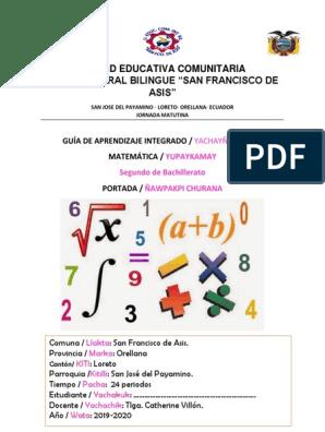 Unidad Educativa Comunitaria Intercultural Bilingue San Francisco De Asis Vector Euclidiano Enseñanza De Matemática