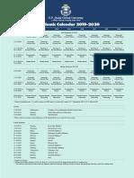 JGU Academic Calendar 2019-2020