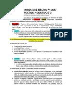 CLASE 3.   LOS ELEMENTOS DEL DELITO