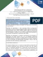 Guía de actividades y rúbrica de evaluacion - Unidad 5 - Paso 6 - Entrega Avance Documento Final