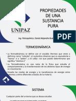 TERMODINAMICA SUSTANCIAS PURAS - MANEJO DE TABLAS