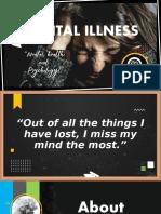 Mental Illnesss PPT Presentation Slide