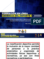 PRESENTACION MASIFICACION DEPORTIVA (VICE ARNALO SANCHEZ)
