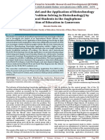 Instructional Model and the Application of Biotechnology Knowledge Problem Solving in Biotechnology by High School Students in the Anglophone Subsection of Education in Cameroon