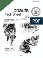 Astronauts Fact Sheet