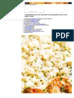 langostinoa con arroz coliflor