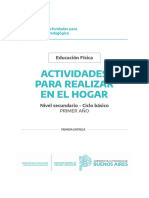 Cuadernillo PDF. Educación Física 1ro. SECUNDARIA - Quedateencasa
