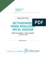 Cuadernillo PDF. Educación Física 4ro. SECUNDARIA - Quedateencasa