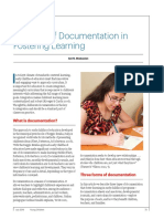 The role of documentation in fostering learning
