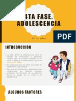 Adolescencia 4ta fase