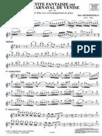 """DEMERSSEMAN Jules  """"La petite fantaisie sur le Carnaval de Venise Op. 7 bis"""""""