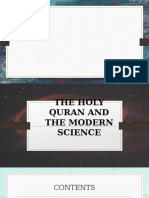 THE HOLY QURAN AND THE MODERN SCIENCE