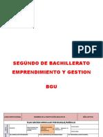 Bloque Emprendimiento y Gestion 3ro y 2do Bgu