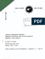 Lunar Module Descent and Ascent