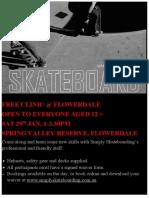 Skateboarding Ad Flowerdale
