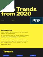 Tech Trends from 2020 [Daniel Eckler]