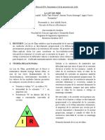 informe física II ley de ohm