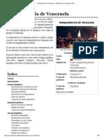 Independencia de Venezuela - Wikipedia, la enciclopedia libre