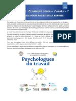 Cdg Grand Est Psychologues Guide Retour Au Travail