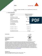 Certificado de Calidad Sikaflex 2C NS