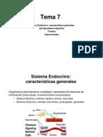 Tema 7. Sistema endocrino I