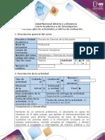 Guía de actividad y rúbrica de evaluación - Paso 5 - POA Final. Formular el proyecto de investigación