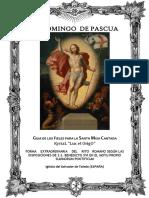 IV domingo de Pascua. Guía de los fieles para la santa misa cantada. Kyrial Lux Et Origo