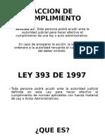 ACCION DE CUMPLIMIENTO