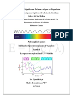 Cours Spectroscopie UV-Visible